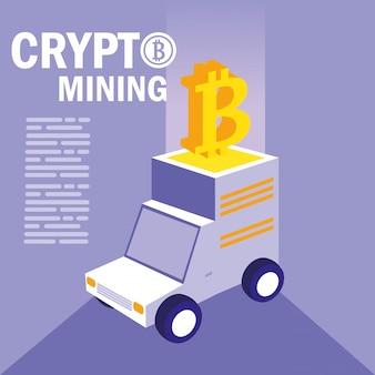Crypto mining bitcoin icons
