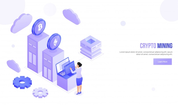 Crypto mining concept.