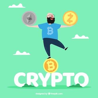 Crypto word concept