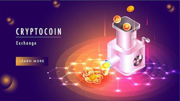 Cryptocoin exchange concept based web template.