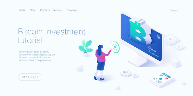 Cryptocoin mining farm . cryptocurrency and blockchain network business isometric