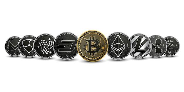 暗号通貨ゴールドシルバーセットコレクション