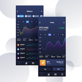 Cryptocurrencies trading mobile app.