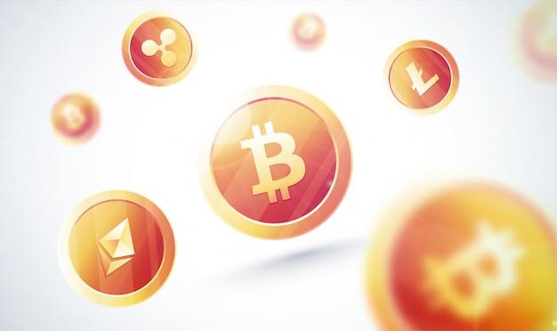 Cryptocurrencies с золотыми монетами
