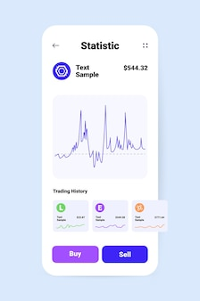 Cryptocurrency application design virtual money transfer app on smartphone screen banking transaction digital currency