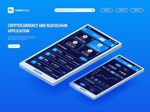 Cryptocurrency and blockchain application for smartphone.