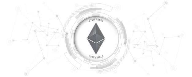Cryptocurrency blockchain ethereum digital money network connection technology concept