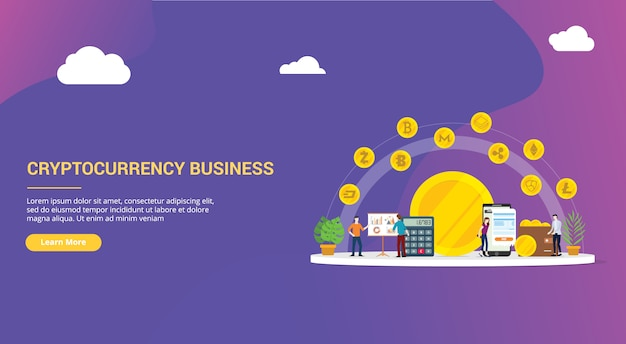 Cryptocurrency business website design