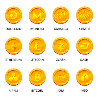 Cryptocurrency coin set