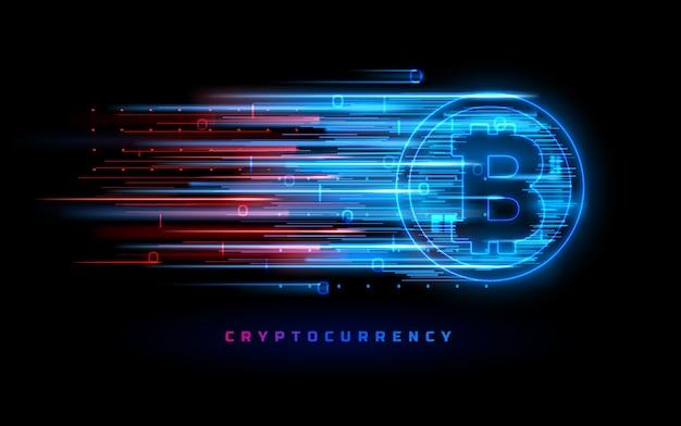 黒で分離された暗号通貨の概念