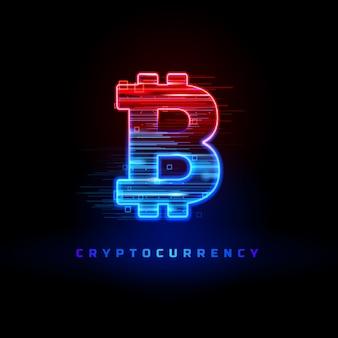 블랙에 고립 된 cryptocurrency 개념