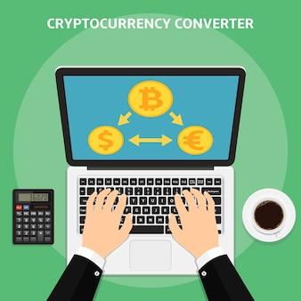 Плоский конвертер криптовалюты