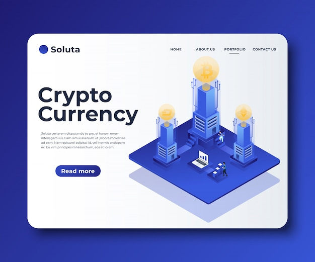 Cryptocurrency exchange concept banner