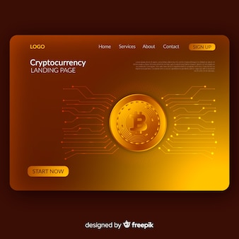 Cryptocurrency landing page free