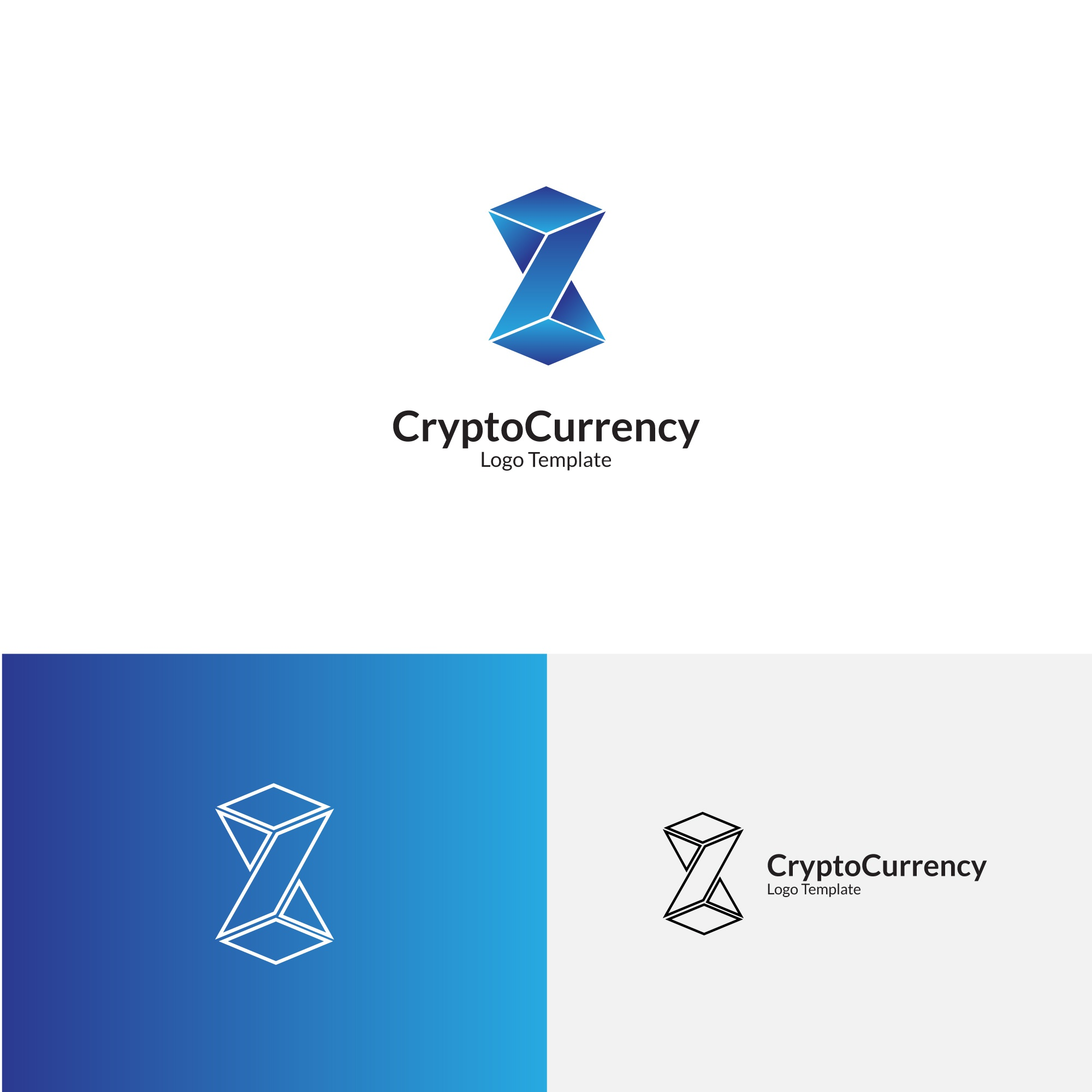 Cryptocurrency Logo Template