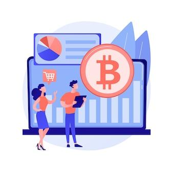 Illustrazione di concetto astratto del mercato di criptovaluta