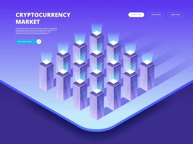 Cryptocurrency market. cryptocurrency and blockchain
