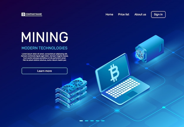 Cryptocurrency mining lnding page