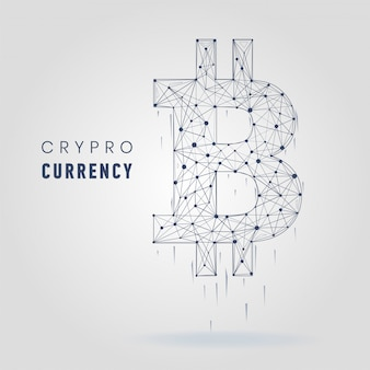 Cryptocurrency symbol vector financy illustration