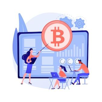 Illustrazione astratta di concetto di corsi di trading di criptovaluta