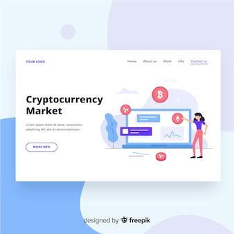 Cryptocurrencyマーケットランディングページ