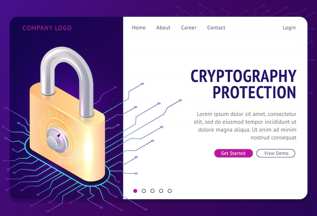 Cryptography protection, web template