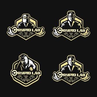 Cryptolab mascot 로고 디자인