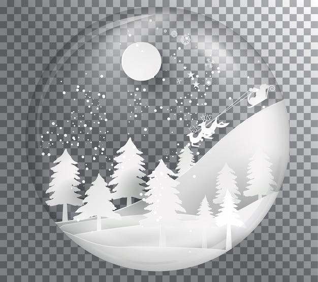 クリスタルボールクリスマスの背景