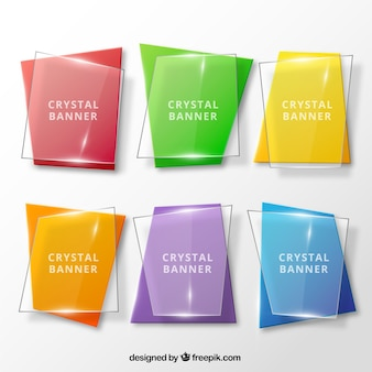 Crystal collection banners