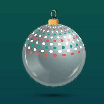 Хрустальный елочный шар орнамент