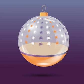クリスタルクリスマスボール飾り