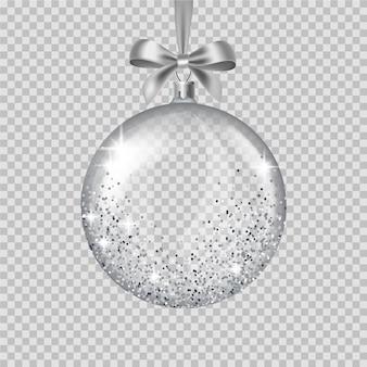 Ornamento di cristallo palla di natale