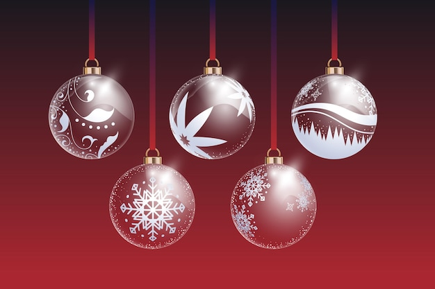 Crystal christmas ball ornament