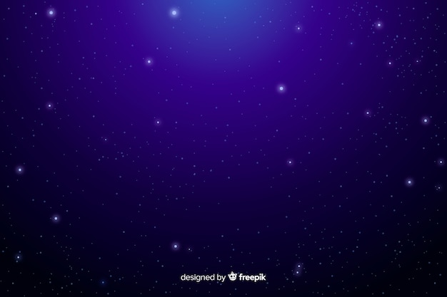 Crystal-clear sky with stars background