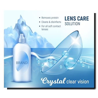 Crystal clear vision advertising banner