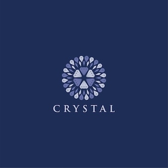Crystal diamond logo modern ornament