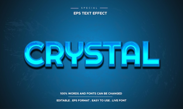 Кристаллический редактируемый текстовый эффект