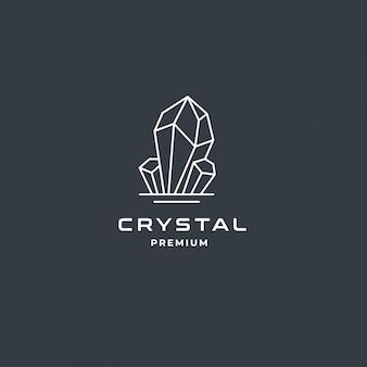Crystal gem or diamond jewelry logo