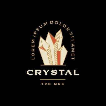 クリスタル宝石石バッジロゴベクトルアイコンイラスト