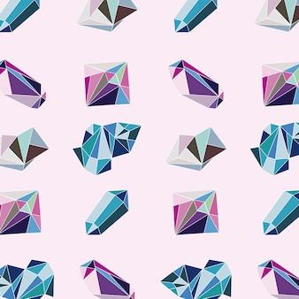 Crystal gems luxury pattern icons