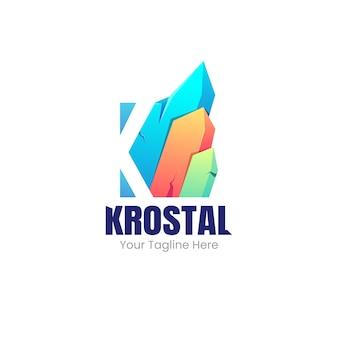 Crystal gradient logo template