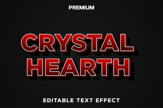 Crystal hearth - game title style text effect premium