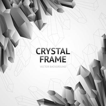 Crystal minerals frame