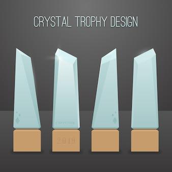 Crystal trophy design