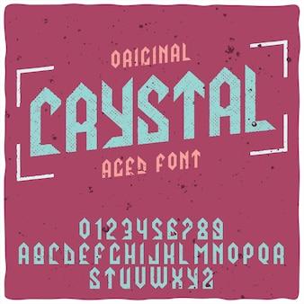 Carattere tipografico di cristallo