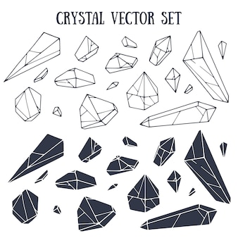 Crystal vector set with lettering