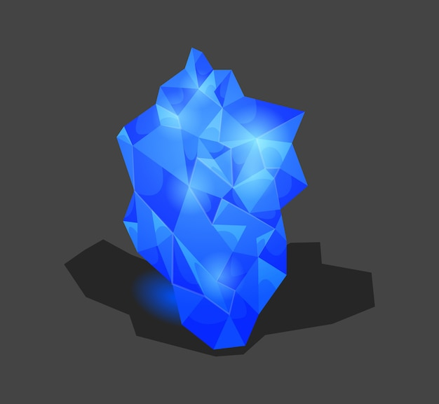 Crystalline stone or gem and precious gemstone for jewellery.