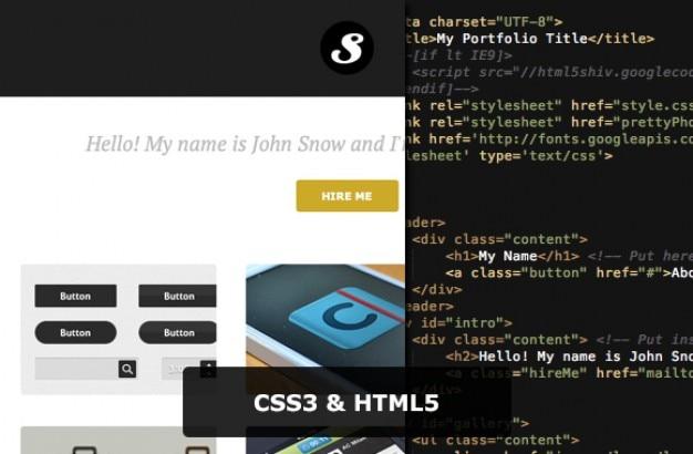 Легкий портфель css3 + html5