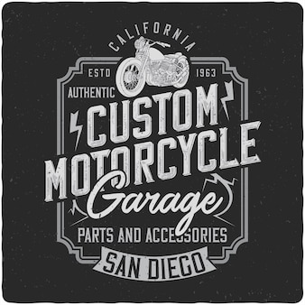 Cstom motorcycle vintage label