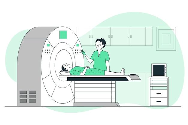 Иллюстрация концепции сканирования ct